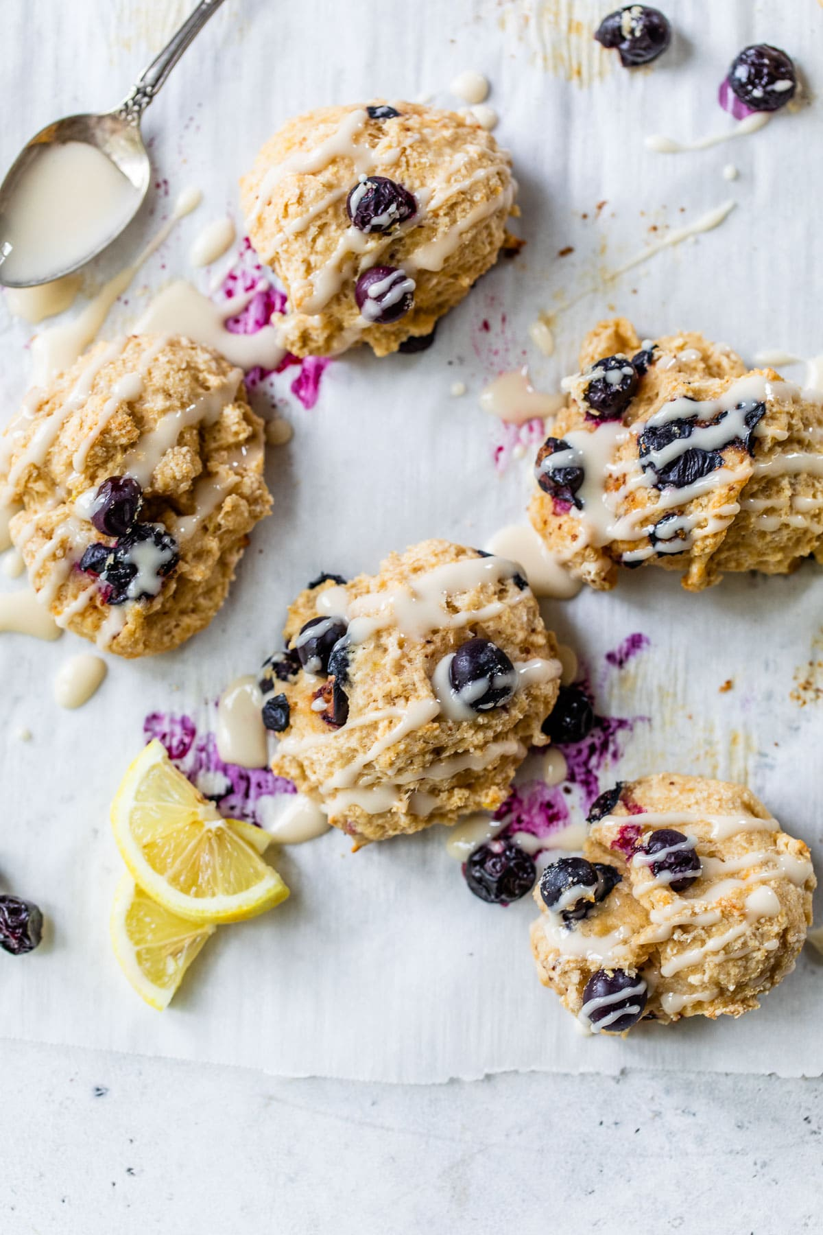 Blueberry Goat Cheese Drop Biscuits. The fluffiest buttermilk biscuits, no rolling required!