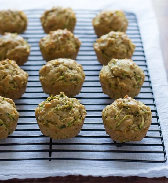 Zucchini Coconut Muffins - Healthy zucchini muffins made with coconut oil and whole wheat flour. So moist and yummy!