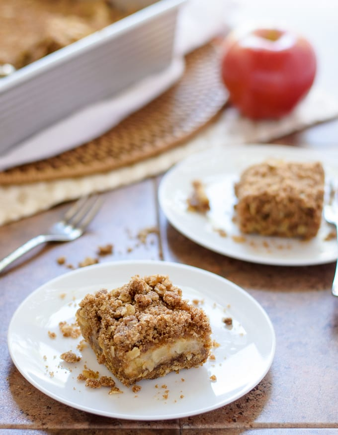 Caramel Apple Crisp Bars. (I can't believe these are vegan!)