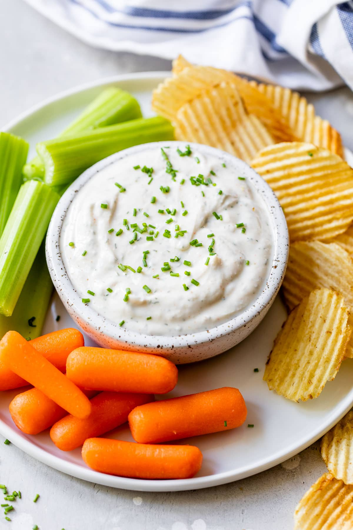 Skinny Ranch Dip made with Greek yogurt