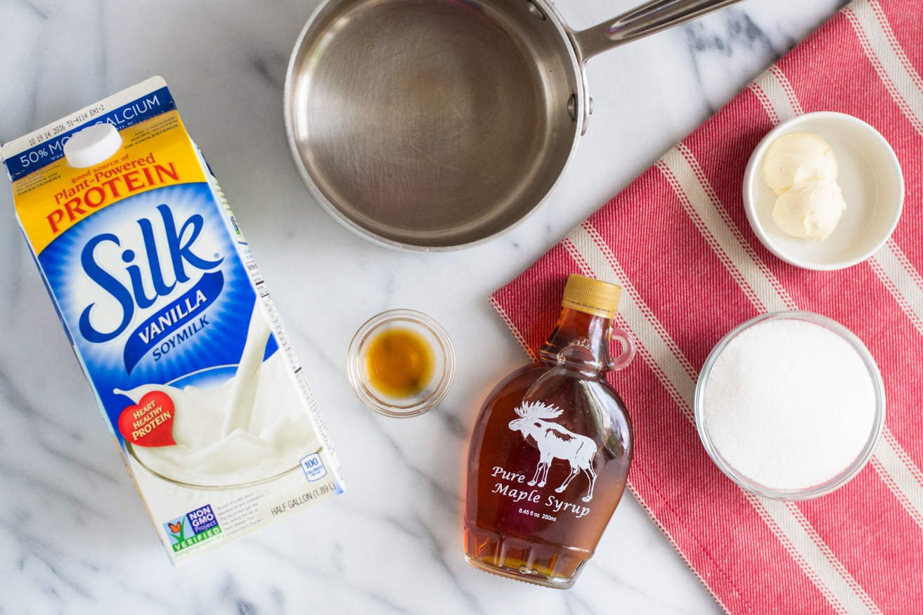 Vegan Caramel Sauce with Soymilk and Maple Syrup. Even non-vegans will love this recipe!