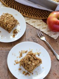 Vegan Caramel Apple Crisp Bars