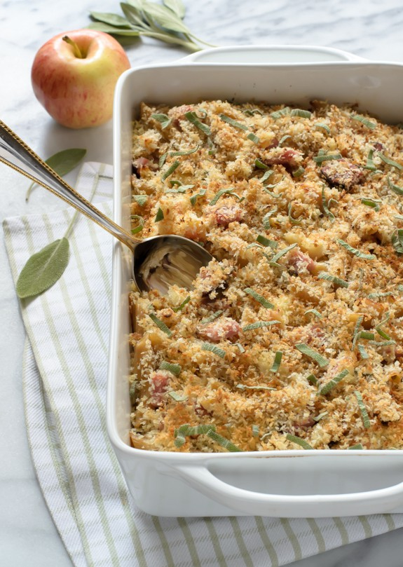 Healthy Ham and Cheese Casserole with Apples