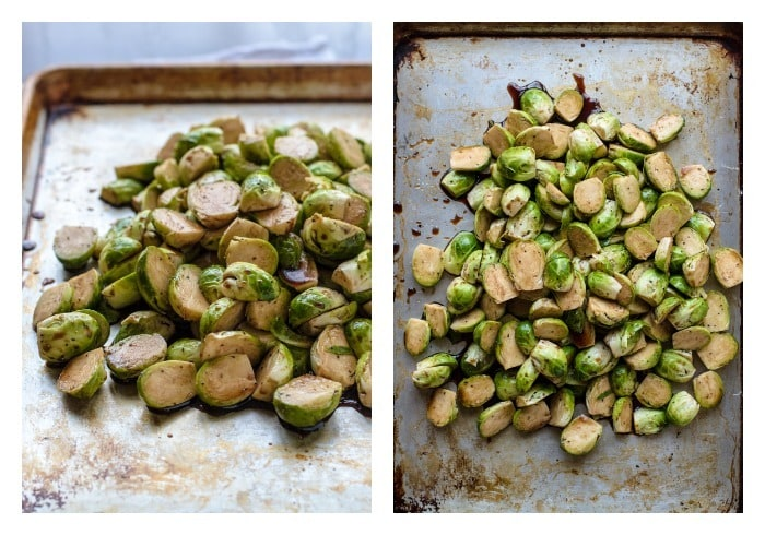 Balsamic Brussel Sprouts Roasted with Maple Syrup