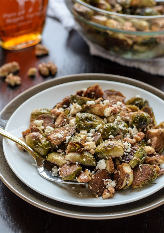 Balsamic Brussel Sprouts with Walnuts and Feta