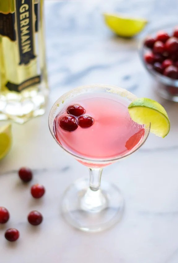 Cranberry St. Germain Cocktail—The perfect holiday drink