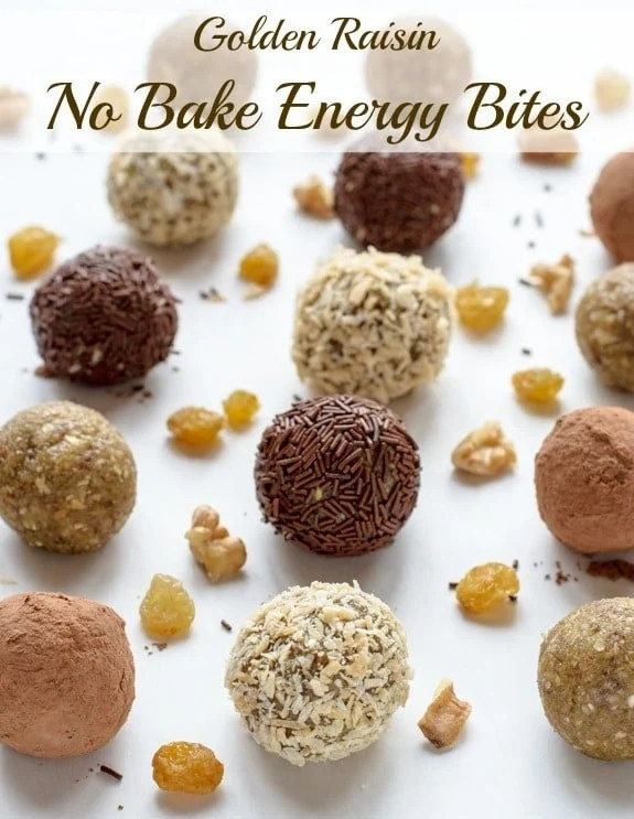Golden Raisin No Bake Energy Bites