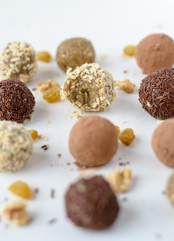 Healthy Golden Raisin Truffles