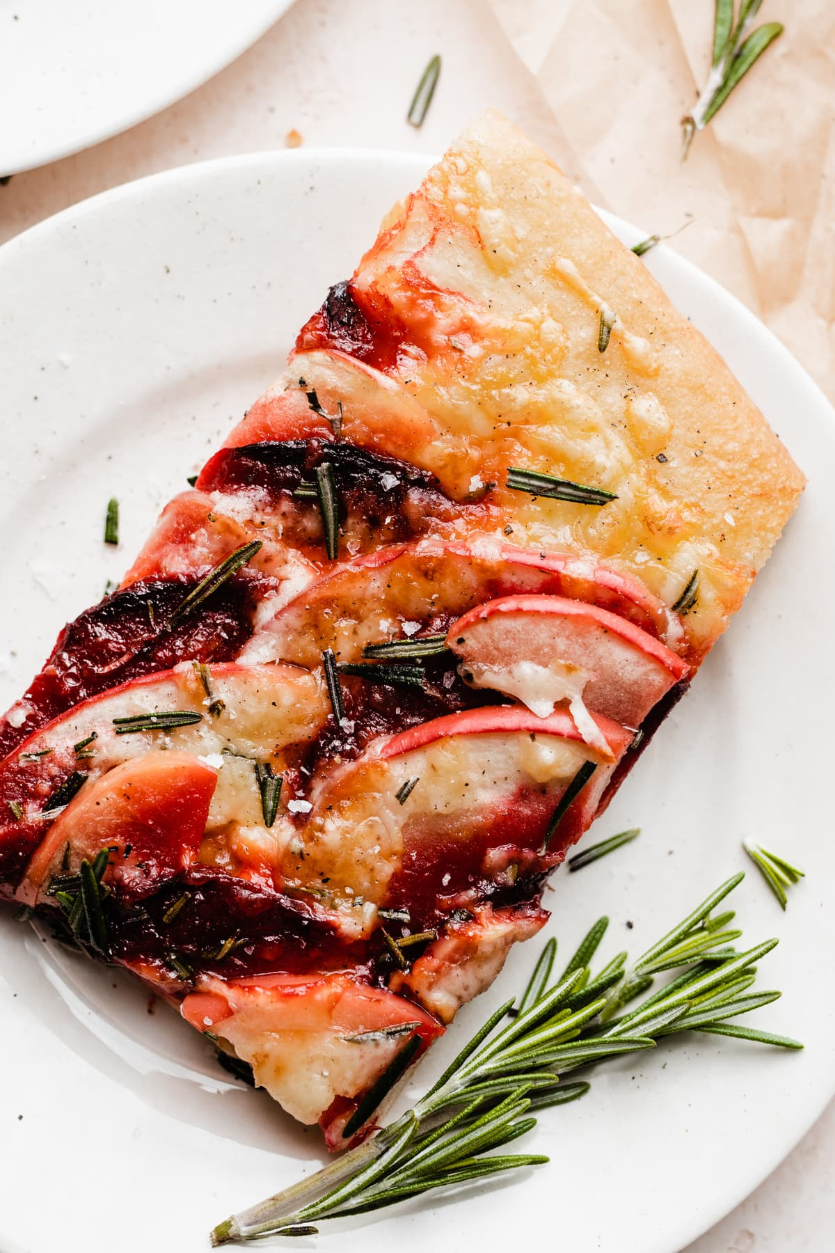 Apple Beet and Cheddar Pizza