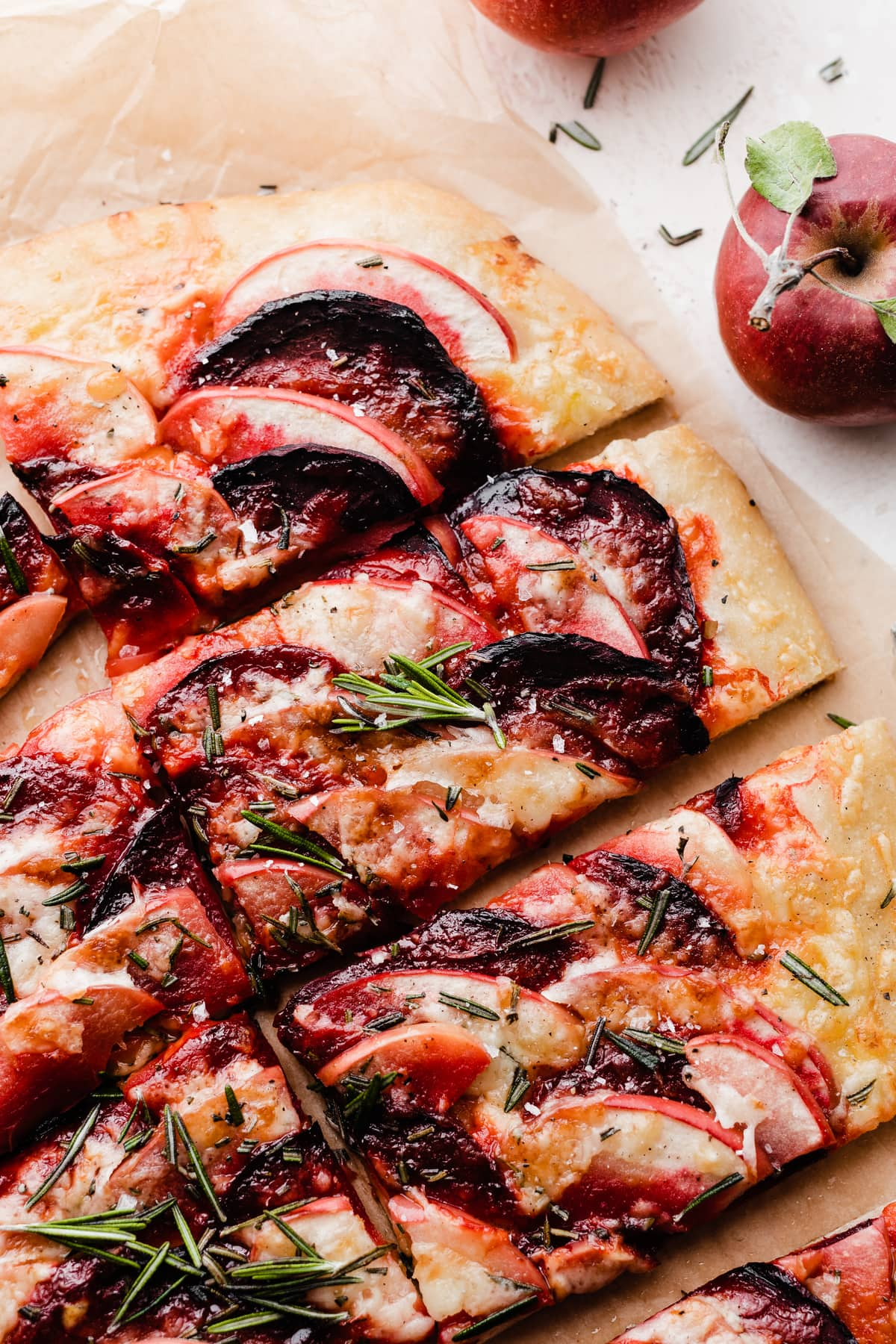Apple Cheddar Pizza with Beets