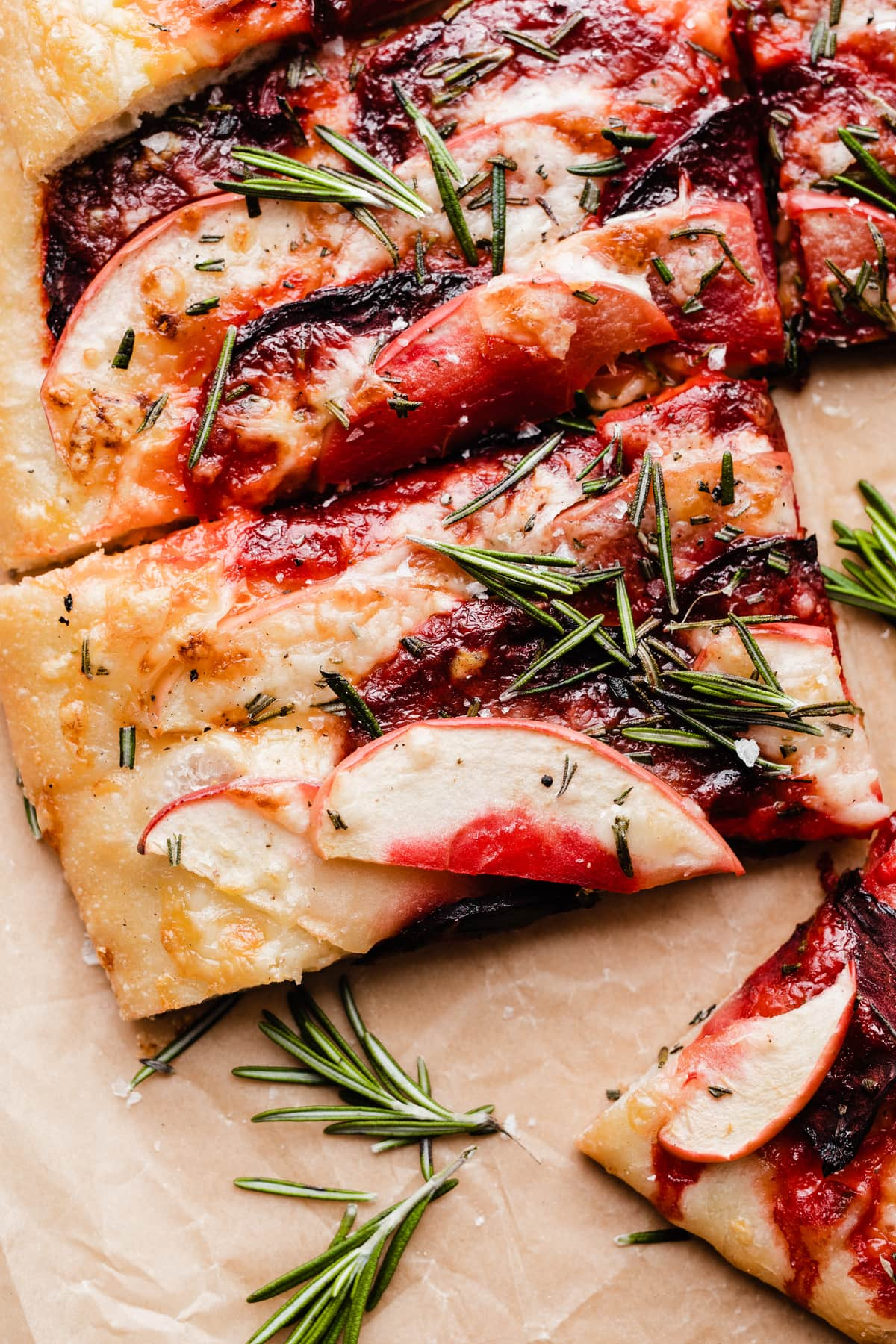 Apple Pizza with Beets and Cheddar