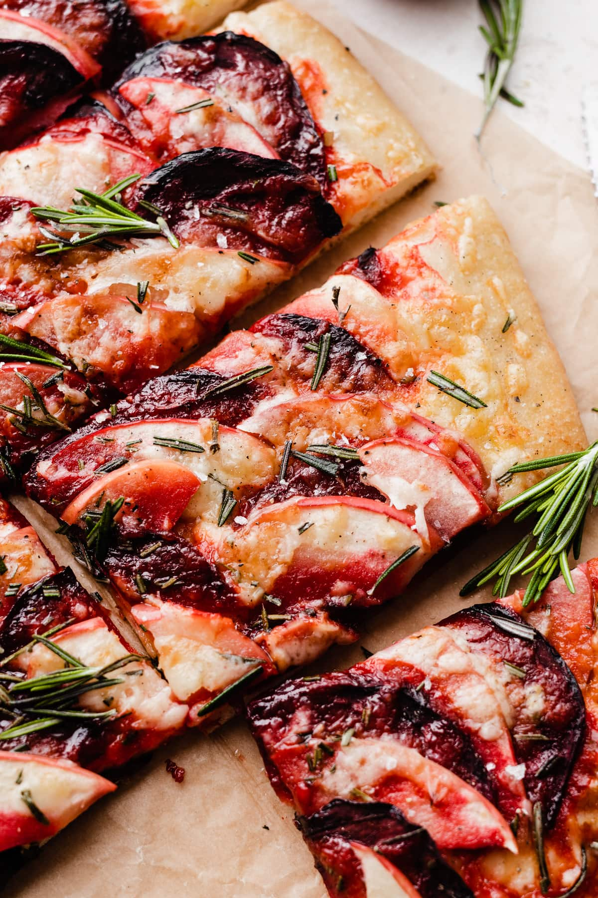 Beet Apple Pizza with Cheddar