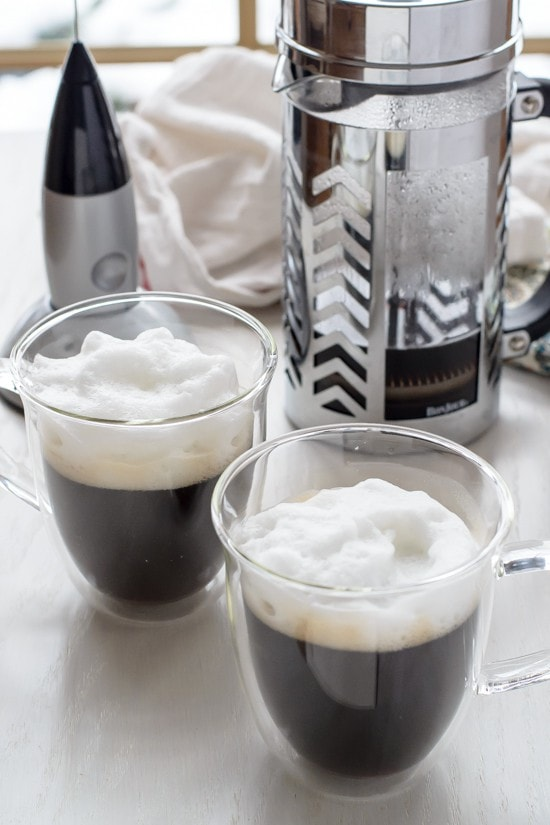 French Press Giveaway with Latte Cups and Frother