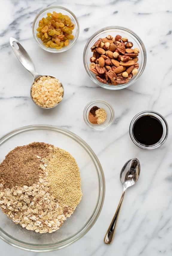 Gingerbread Granola. Healthy gluten free granola recipe
