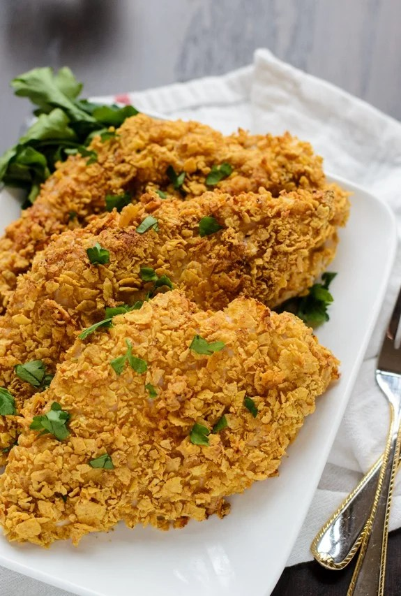Oven Fried Chicken. Buttermilk chicken that's baked in the oven, but tastes fried!