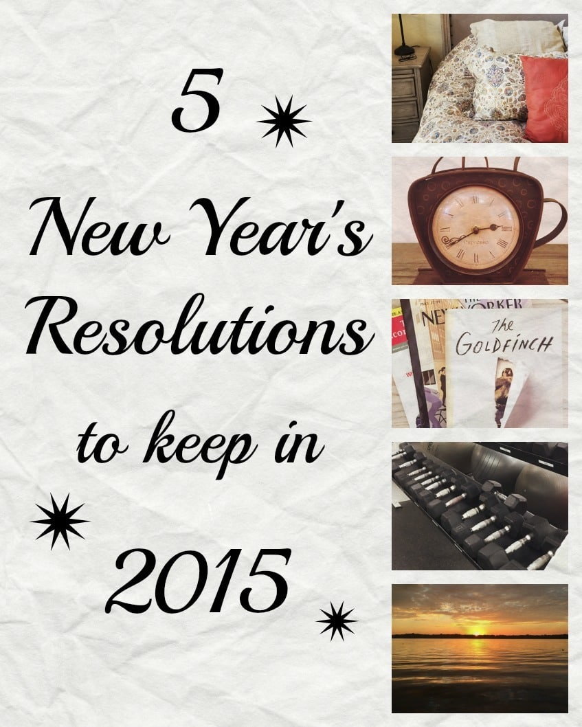 5 New Year's Resolutions to Keep in 2015