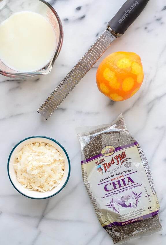 Use chia seeds to make vegan coconut breakfast pudding