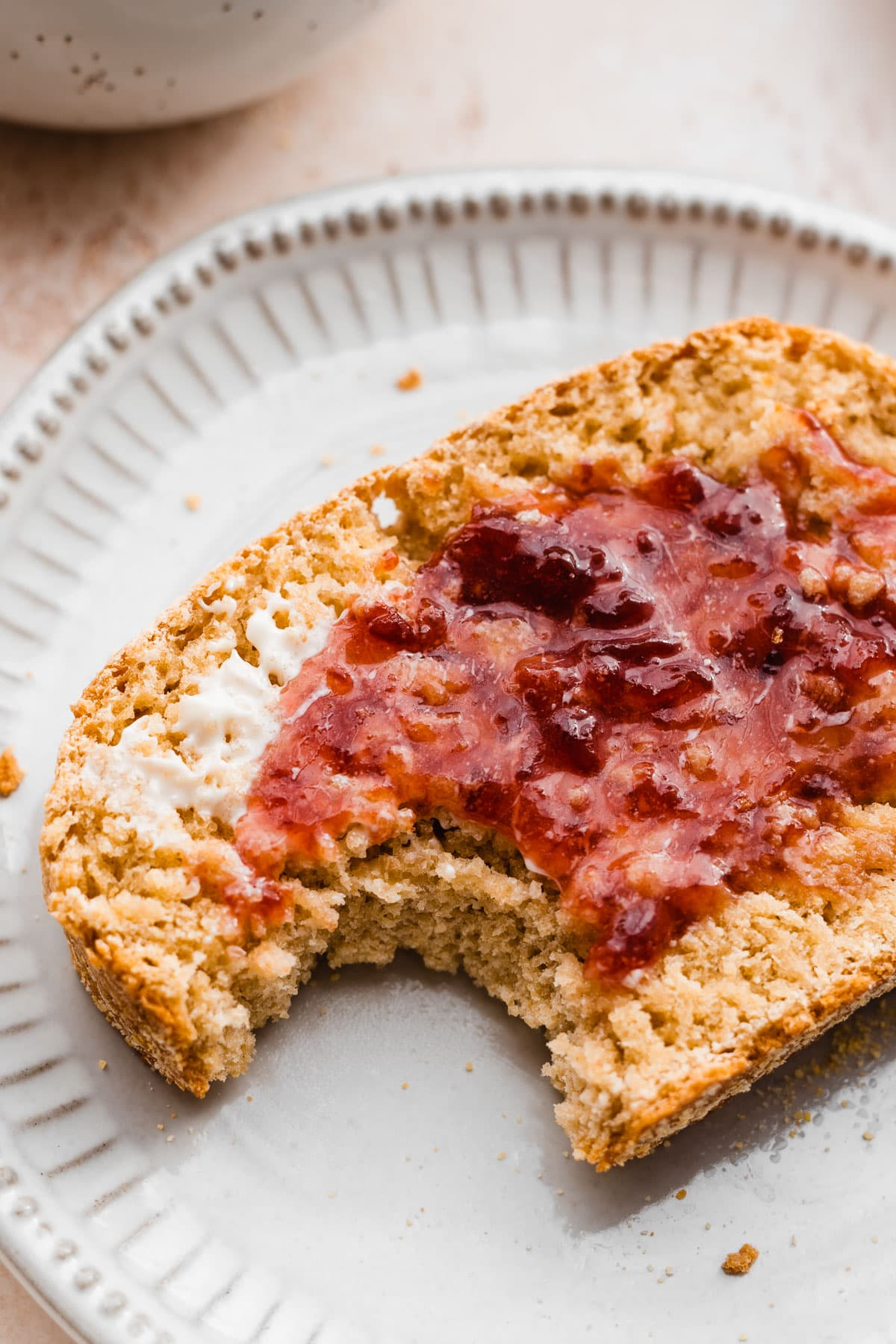 Bread that tastes just like English muffins, but is much easier to make! Perfect for toast and grilled cheese