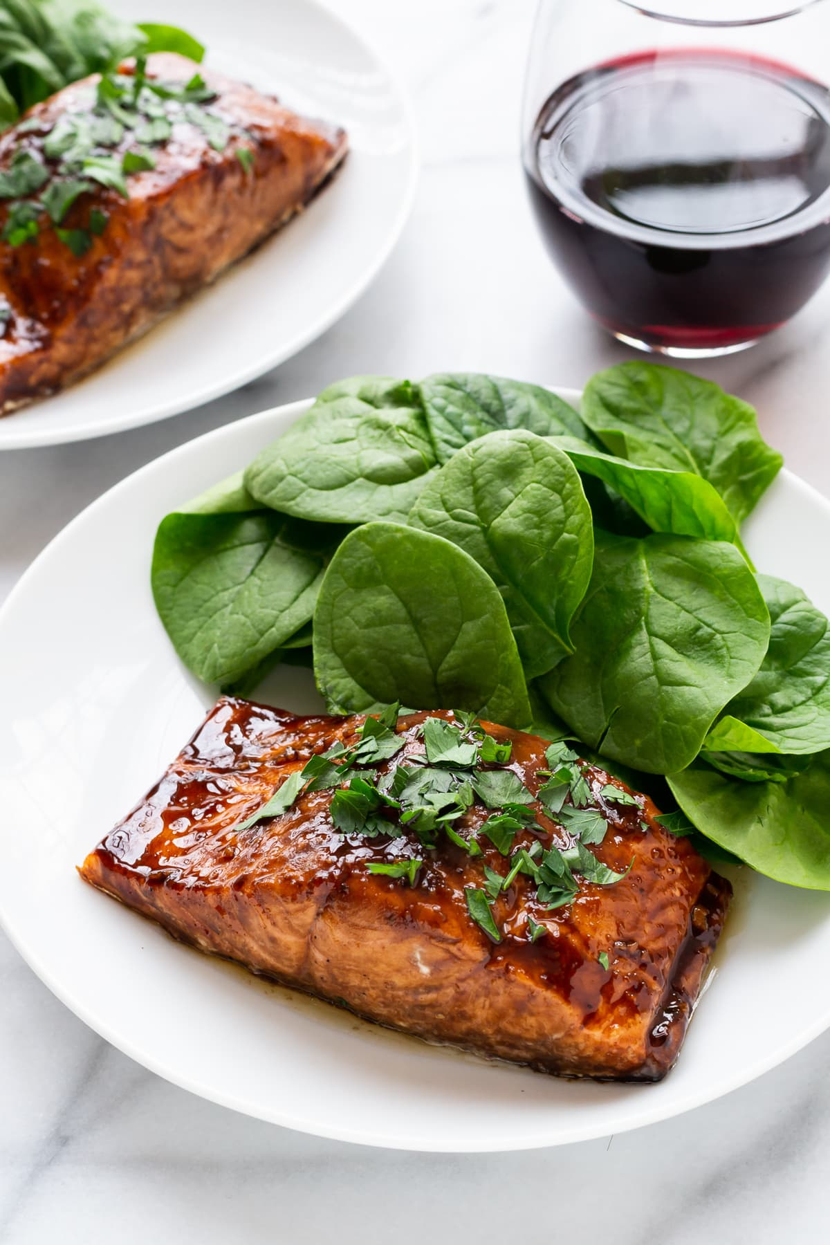 Easy Balsamic Glazed Salmon. A romantic dinner recipe that's ready in 20 minutes, flat!