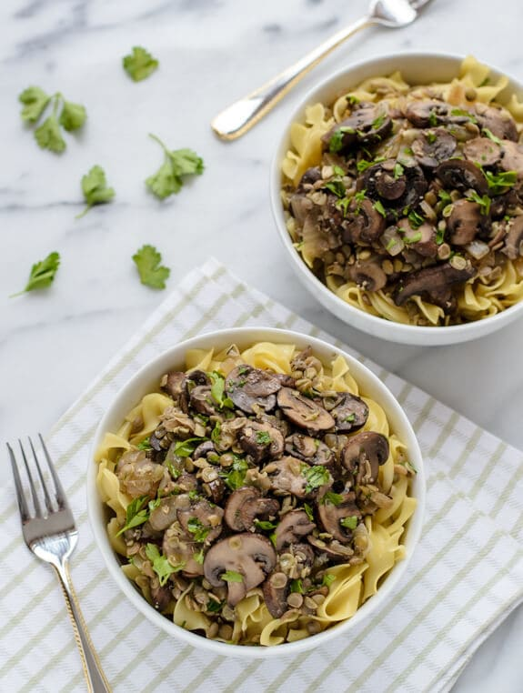 Lentil Mushroom Stroganoff. Skip the beef and make this healthy stroganoff recipe instead