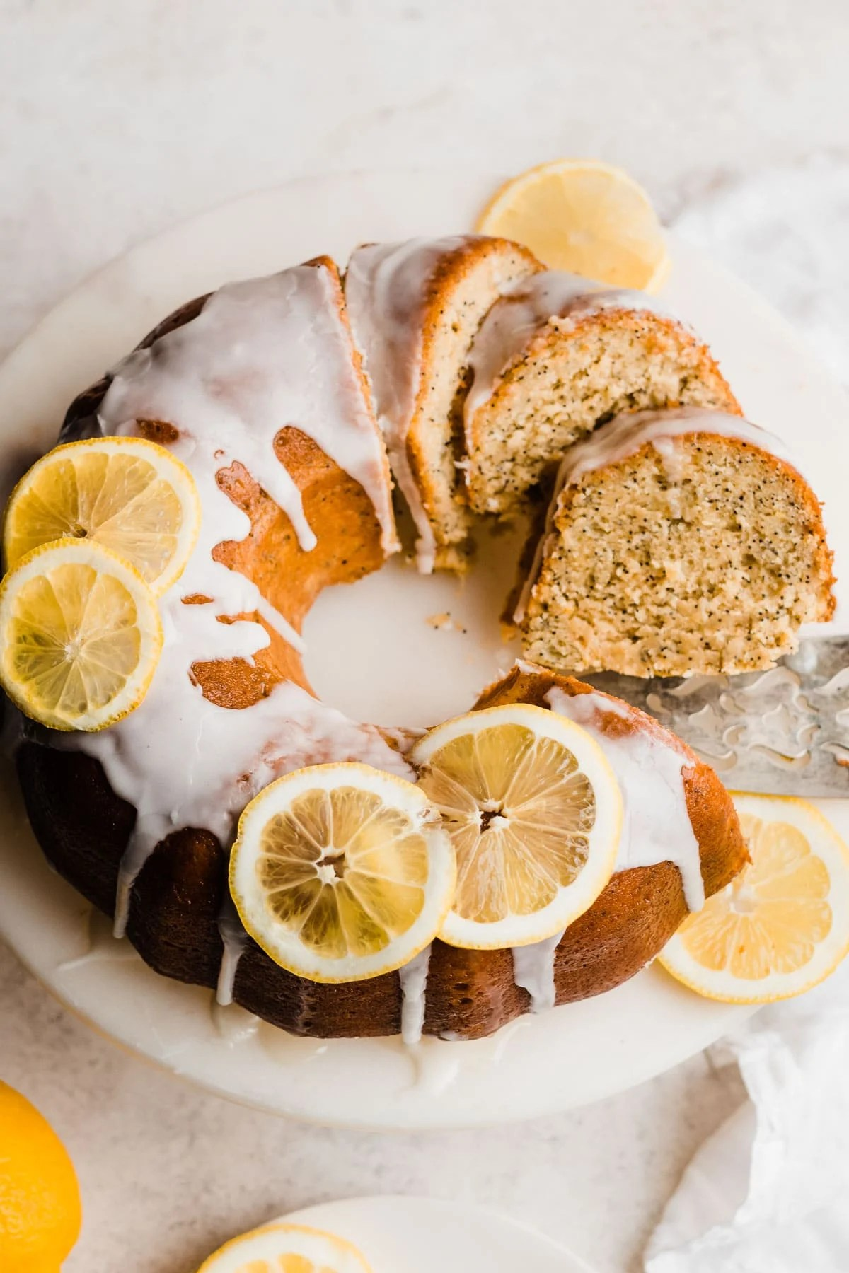 Fluffy Lemon Poppy Seed Cake with Lemon Glaze