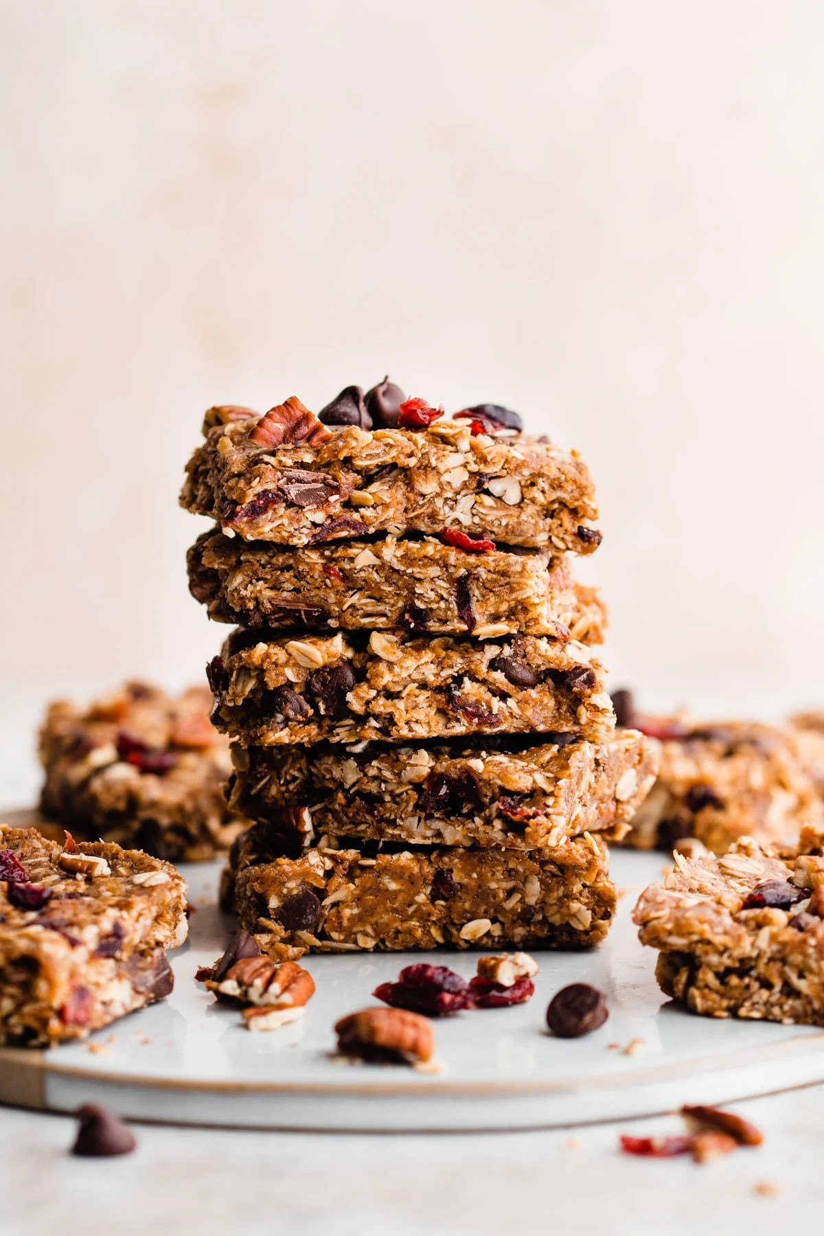 Healthy Salted Chocolate Almond No Bake Granola Bars