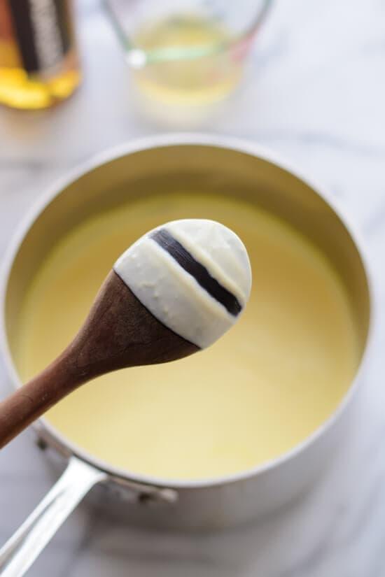 Irish Whiskey Ice Cream with Salted Caramel. Warning- it is BOOZY!