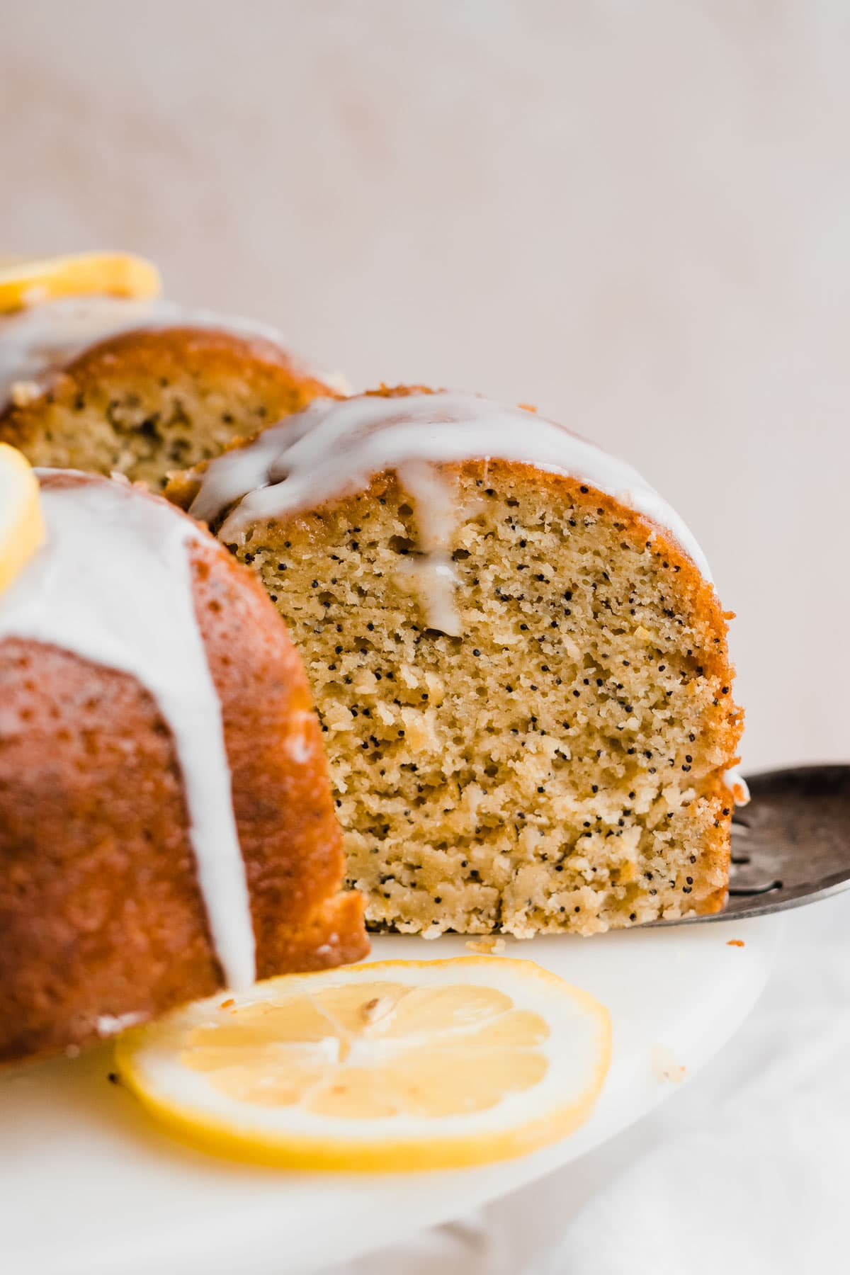 Lemon Poppy Seed Cake with Lemon Glaze
