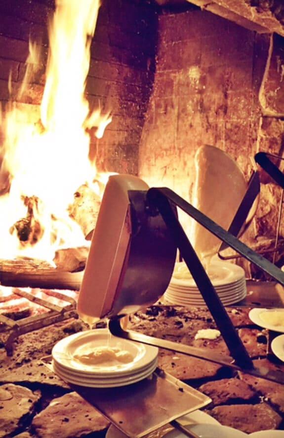 Raclette at Fireside