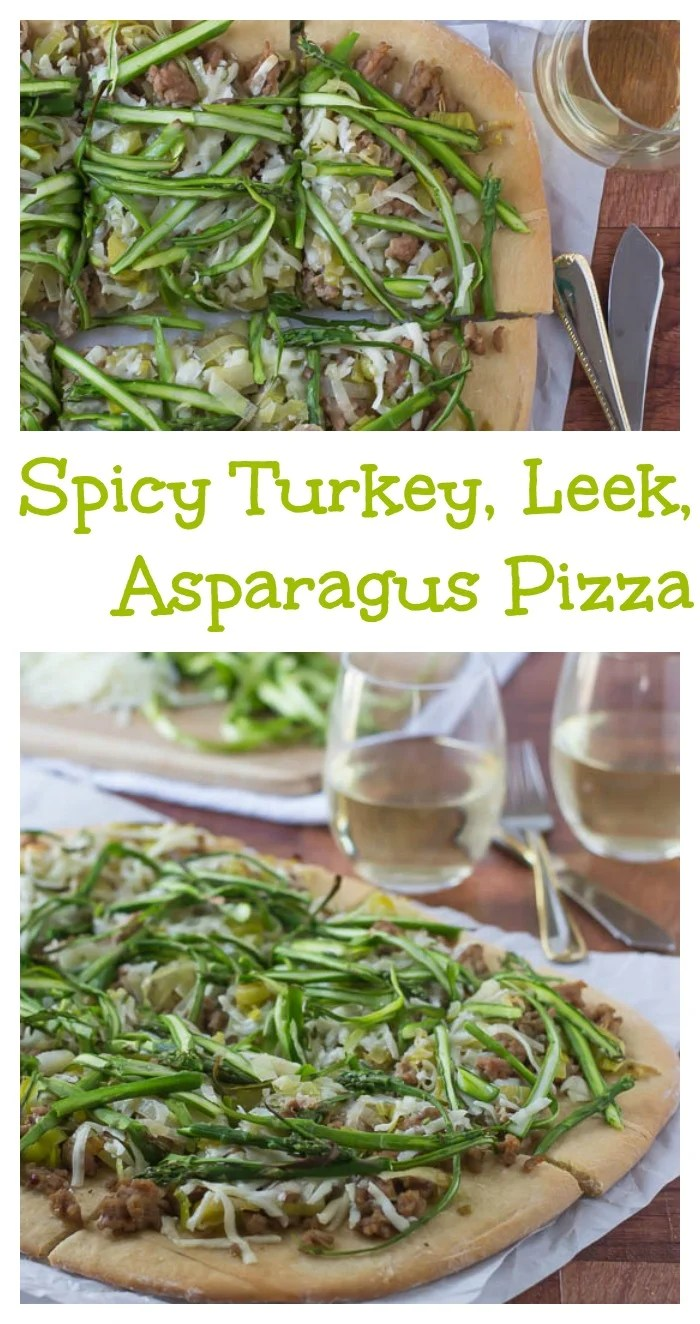 Spicy Turkey, Leek, and Asparagus Pizza // Well-Plated