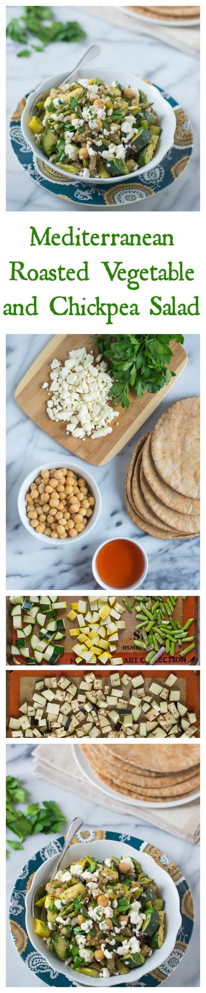 Mediterranean Roasted Vegetable and Chickpea Salad // Well-Plated