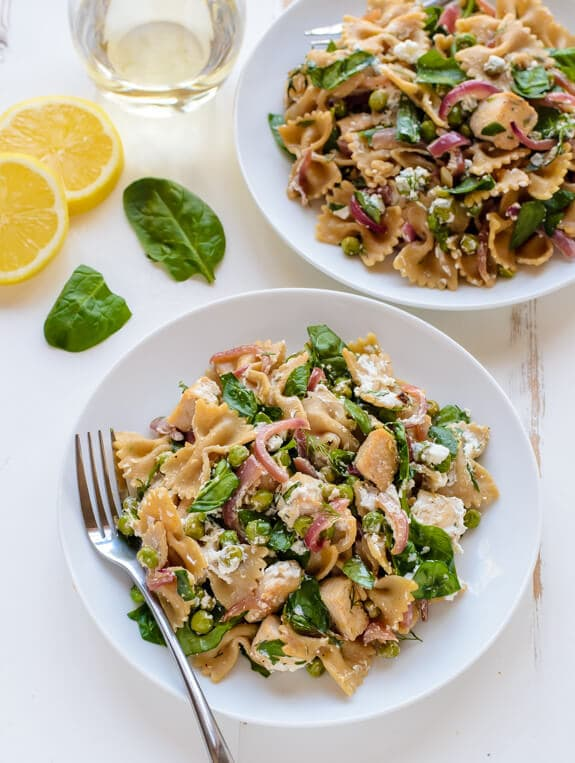 Date night Lemon Dill Chicken Pasta with Goat Cheese
