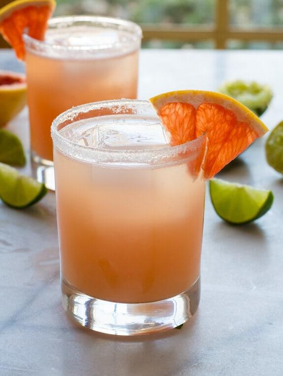 Fizzy Grapefruit Margaritas