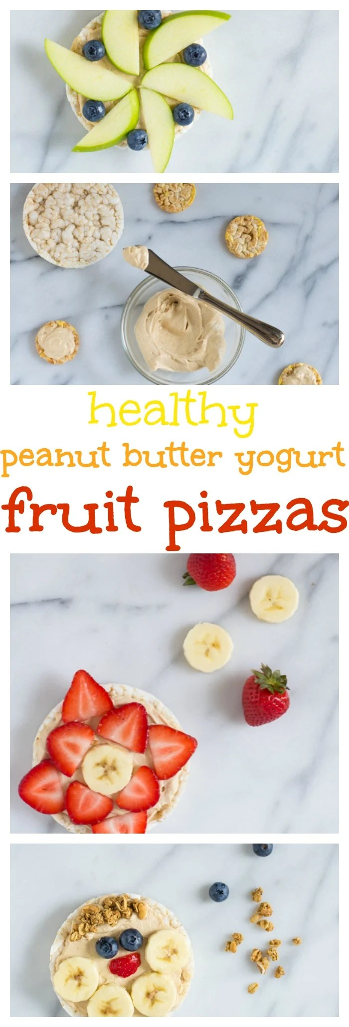 Healthy Peanut Butter-Yogurt Fruit Pizzas // Well-Plated