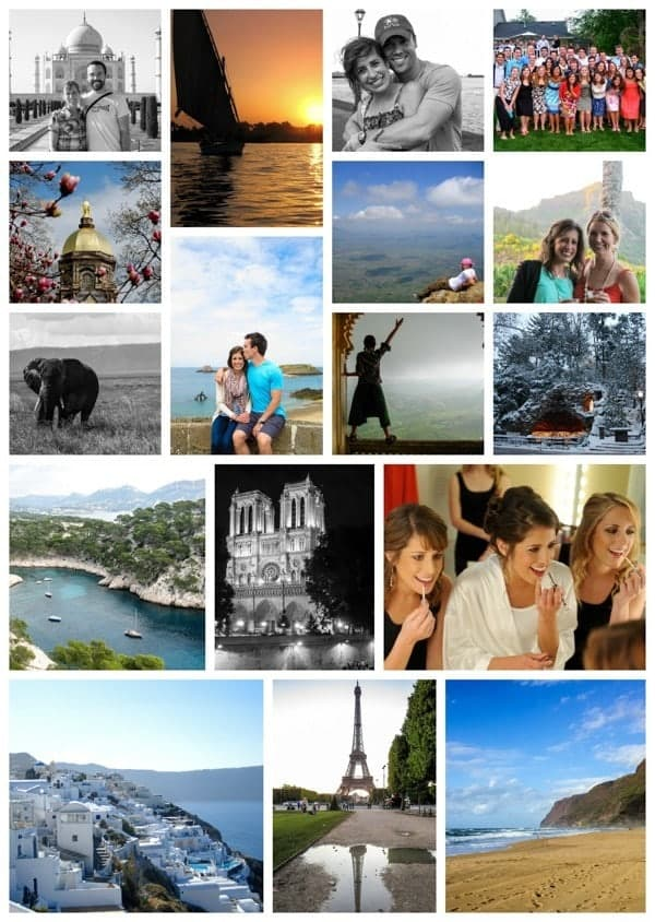 Travel and Family Picture Collage