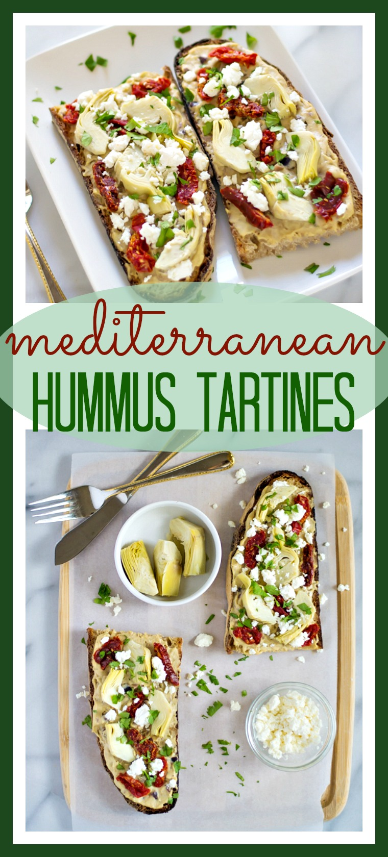 Mediterranean Hummus Tartines // Well-Plated