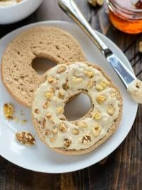 A healthy version of Panera Honey Walnut Cream Cheese that's packed with protein and paleo friendly!