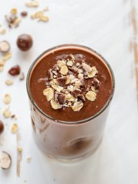 Healthy Chocolate Malt Oatmeal Smoothie