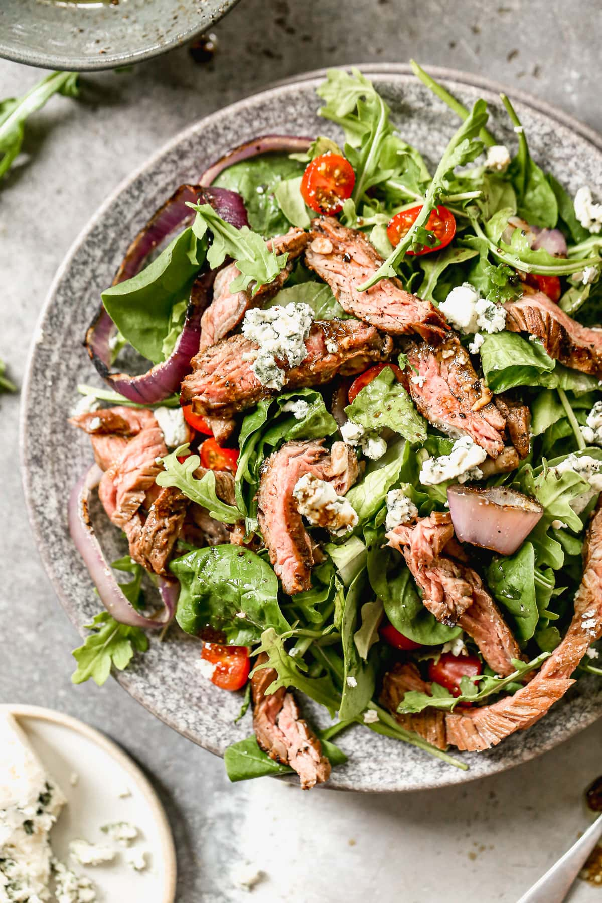 Perfect Grilled Steak Salad with Roasted Vegetables. Gorgeous and healthy!