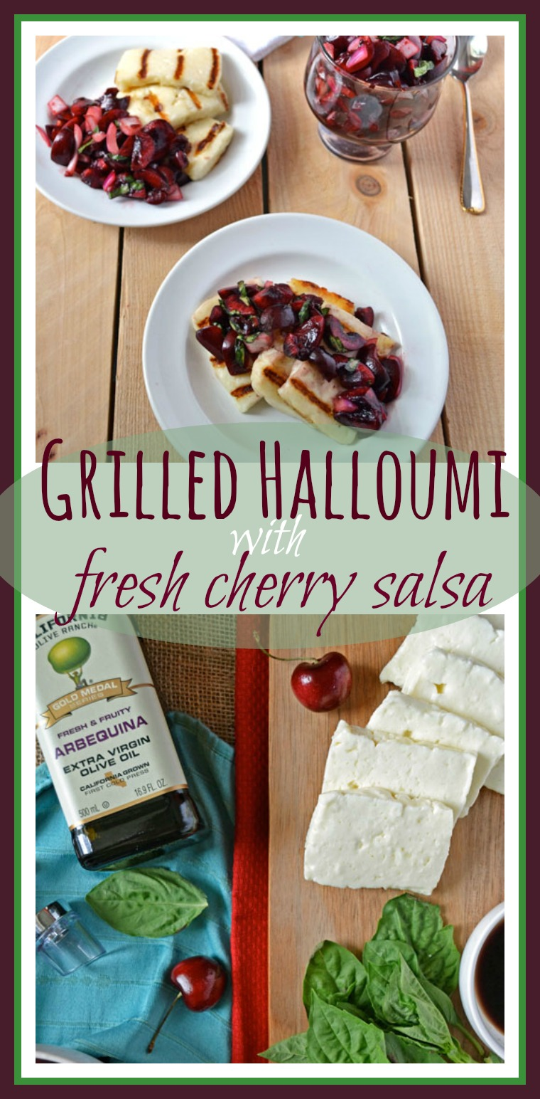 Grilled Halloumi with Fresh Cherry Salsa // Well-Plated