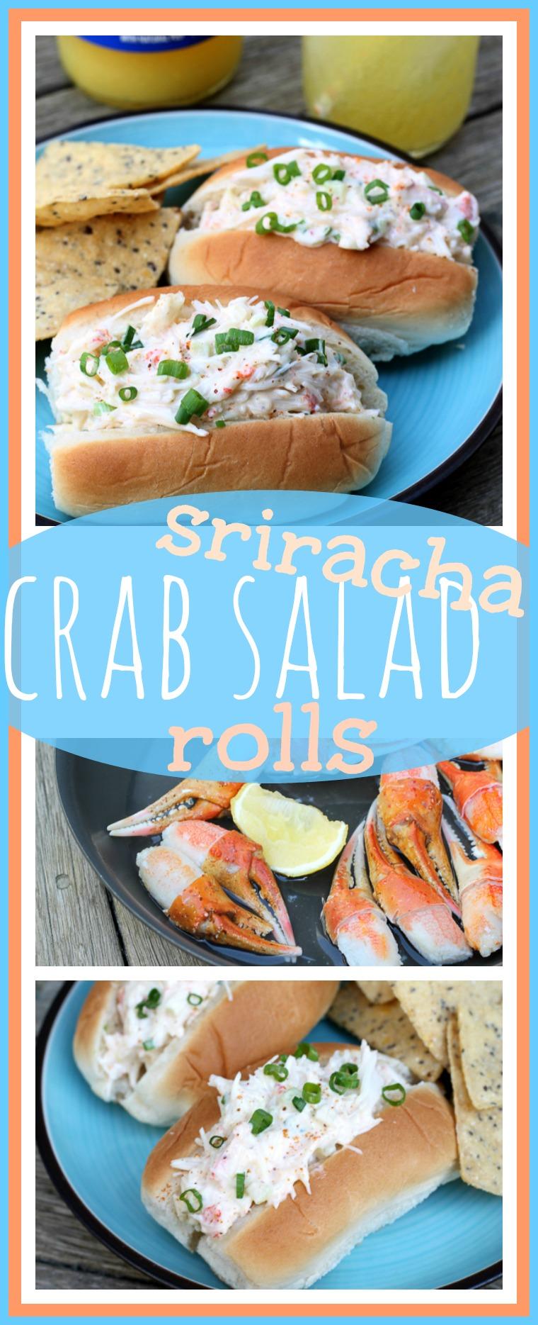 Sriracha Crab Salad Rolls // Well-Plated