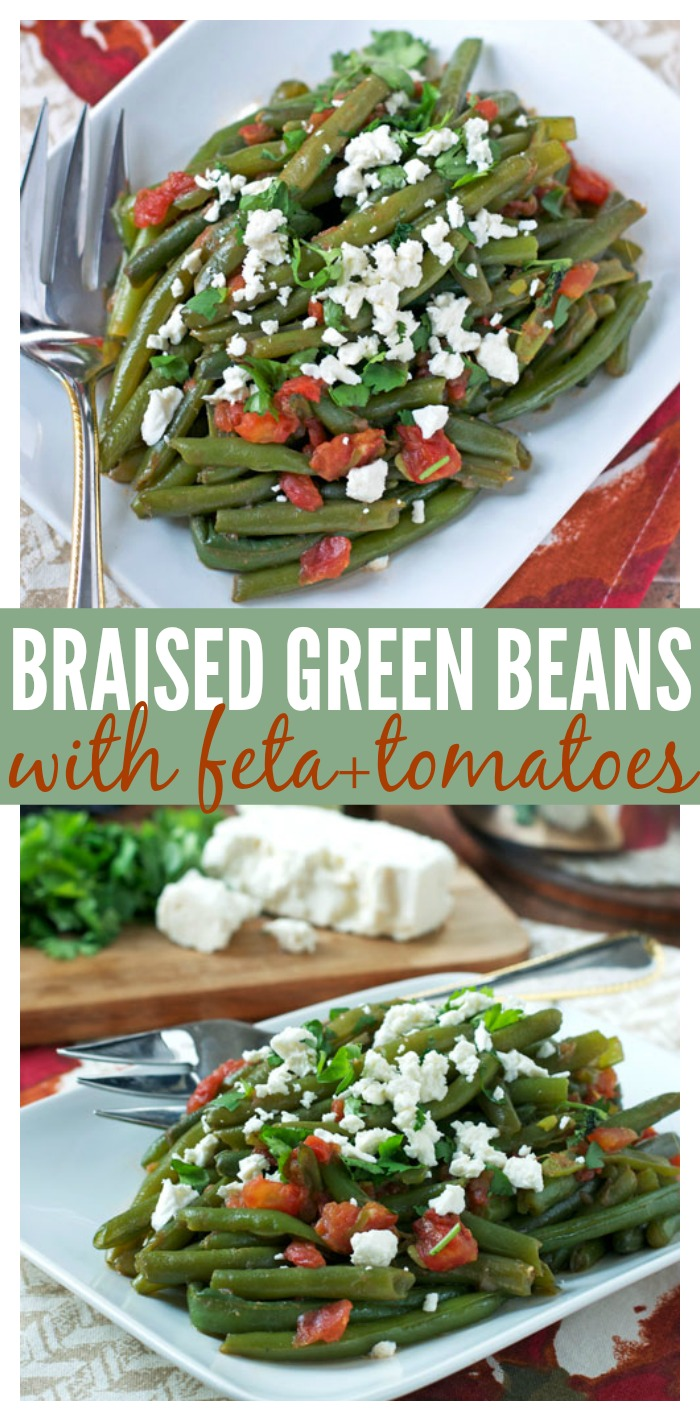 Braised Green Beans with Feta and Tomatoes // Well-Plated