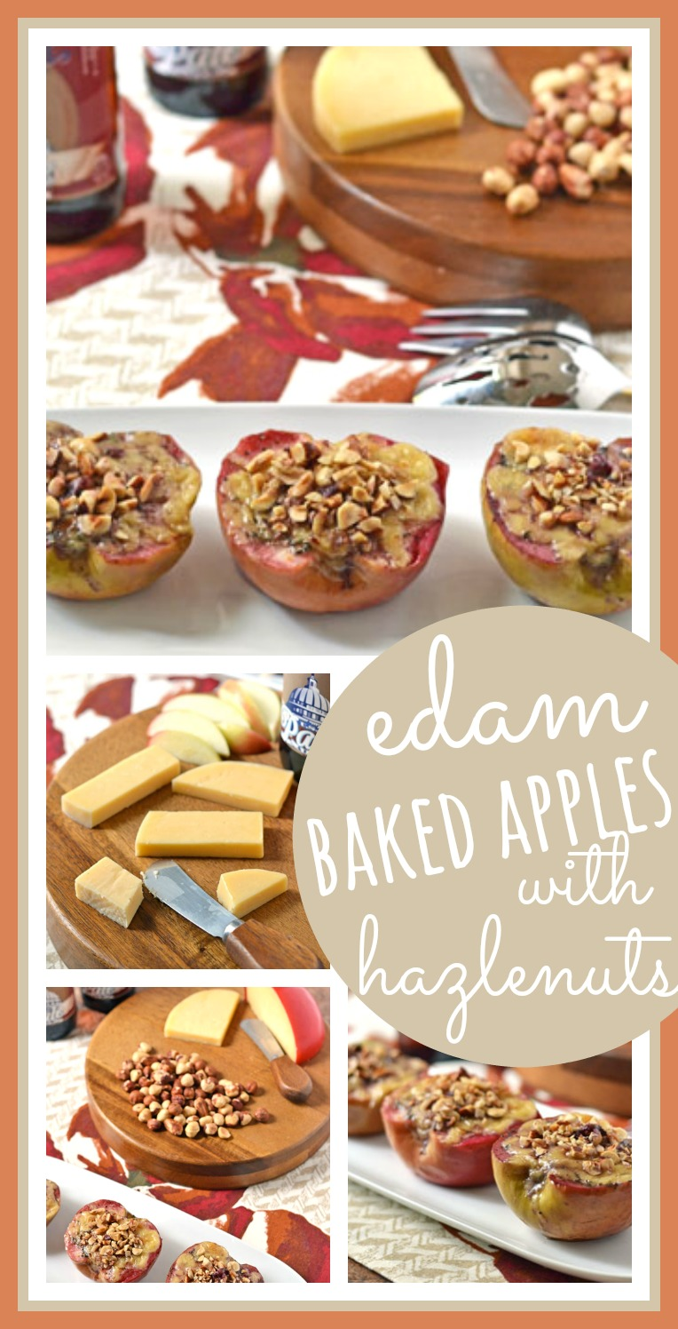 Edam Cheese Baked Apples with Hazelnuts // Well-Plated