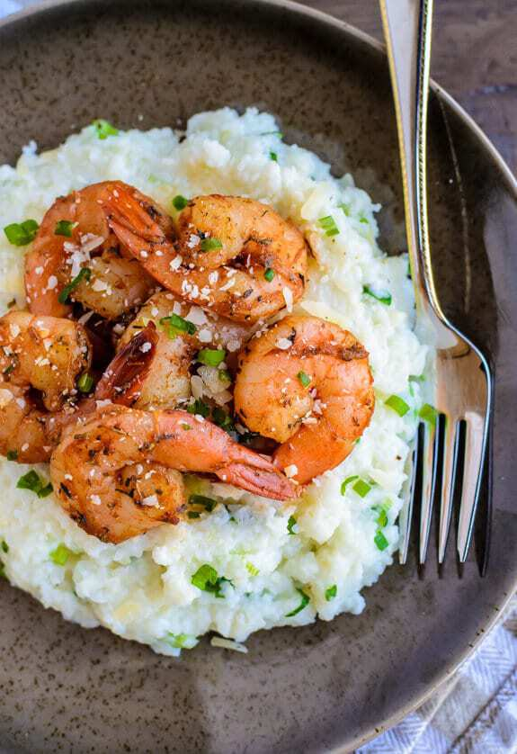 Skinny Cajun Shrimp and Grits. A healthy 15 minute meal!