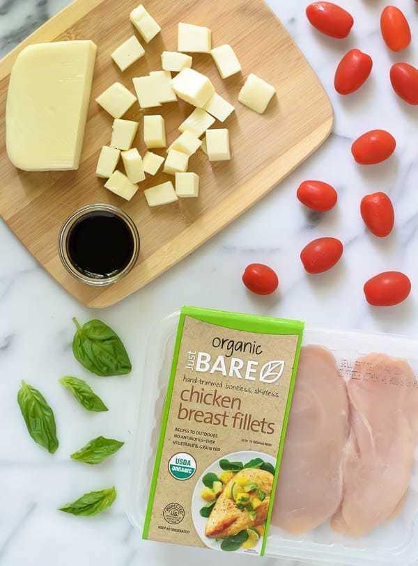 My favorite of all easy chicken pasta recipes- Caprese Chicken Pasta