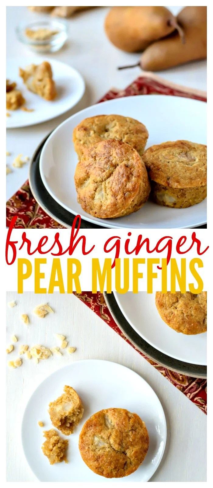 Fresh Ginger Pear Muffins // Well-Plated