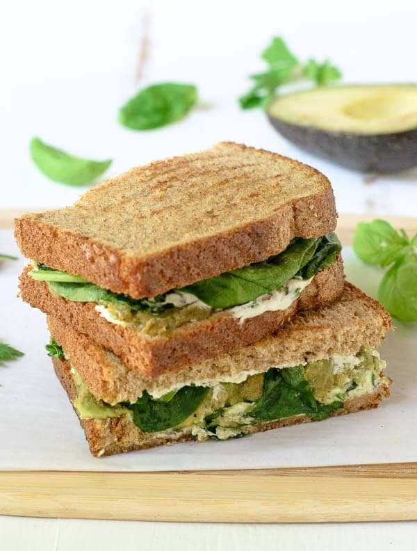 Avocado Grilled Cheese with Goat Cheese and Herbs. The ultimate gourmet grilled cheese sandwich!