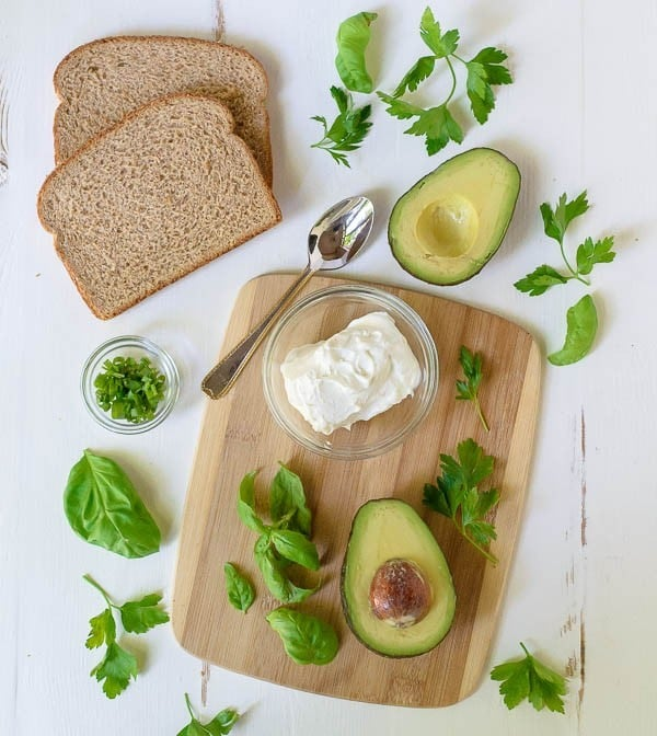 Avocado Grilled Cheese with Herbed Goat Cheese