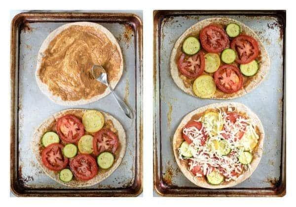 Easy Veggie Pita Pizzas