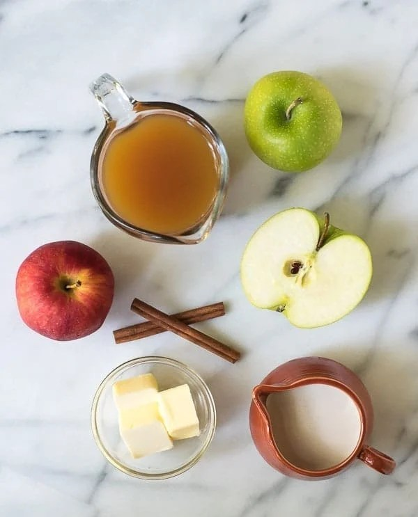 Homemade Apple Cider Caramel Sauce. Gooey caramel sauce with the flavor of apple cider